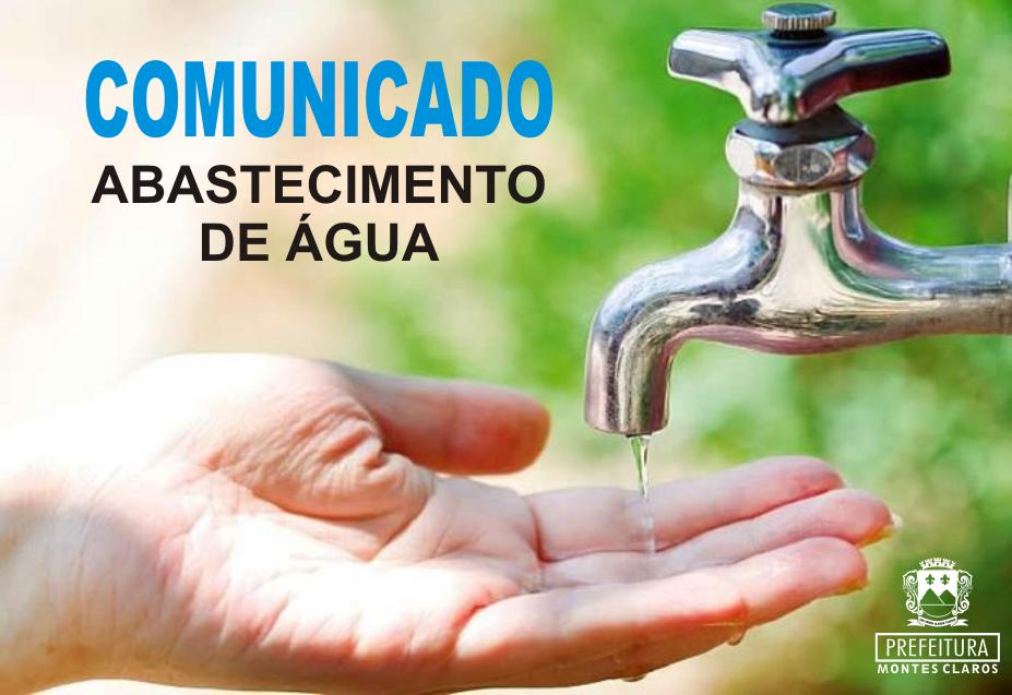 COMUNICADO: Abastecimento de água