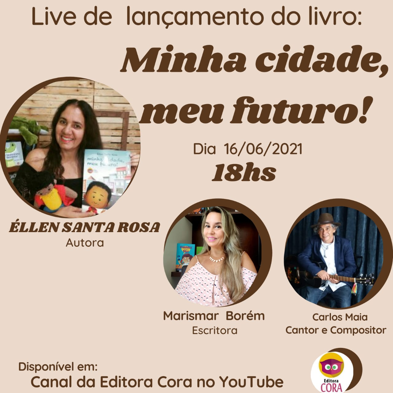"""Imagem de destaque """"MINHA CIDADE, MEU FUTURO"""" - Lançamento do novo livro da coordenadora do Trilha da Leitura acontece hoje"""