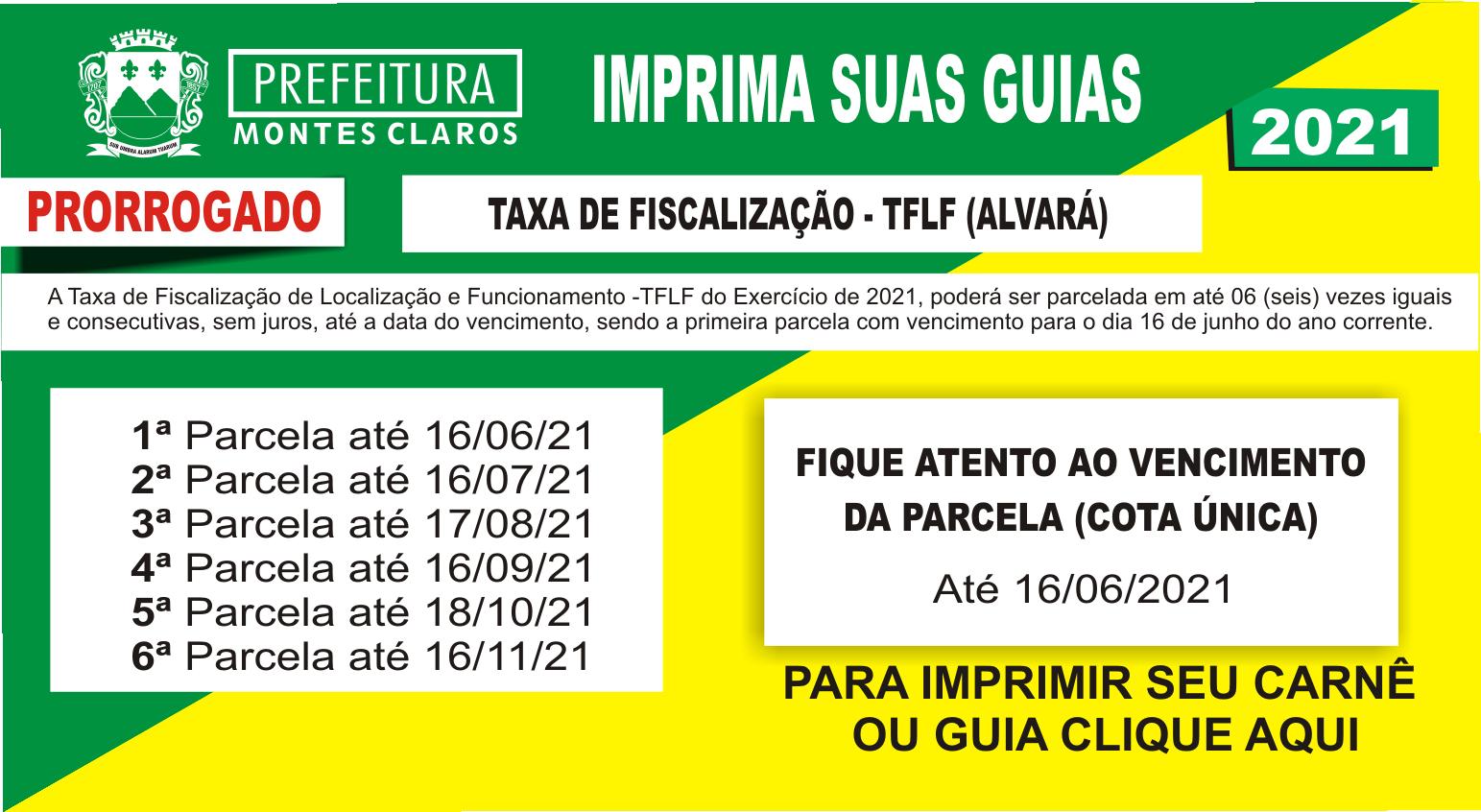 Banner Banner Web - Taxa Fiscalização TFLF - Alvará 2021