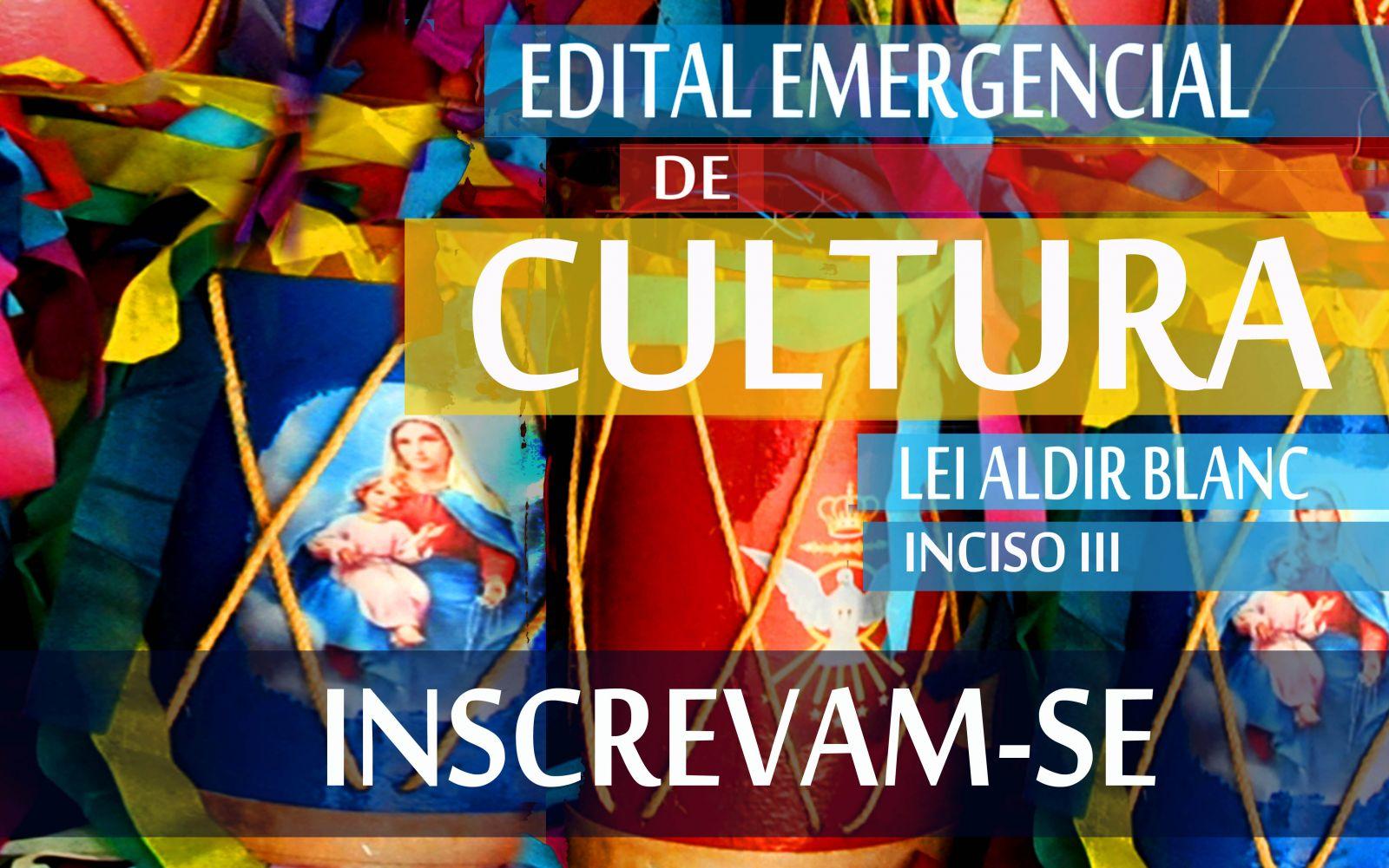 Banner EDITAL EMERGENCIAL DE CULTURA - LEI ALDIR BLANC
