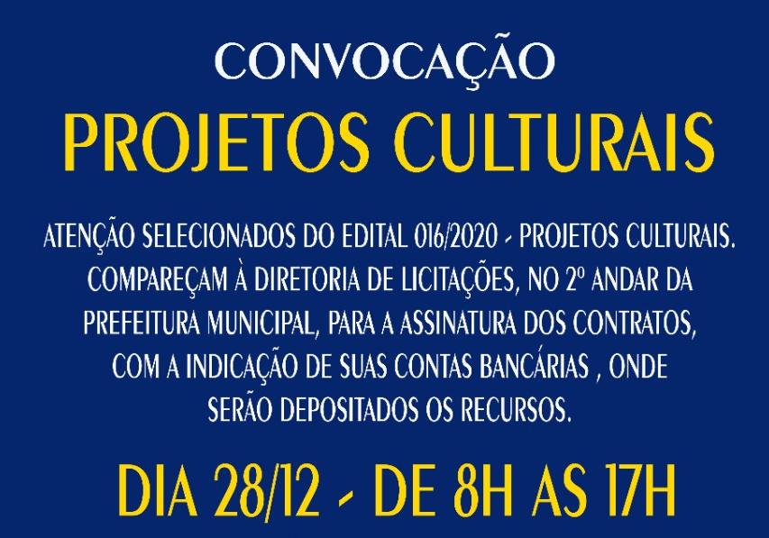 Banner LEI ALDIR BLANC - CONVOCAÇÃO ESPAÇOS CULTURAIS - 28-12-20
