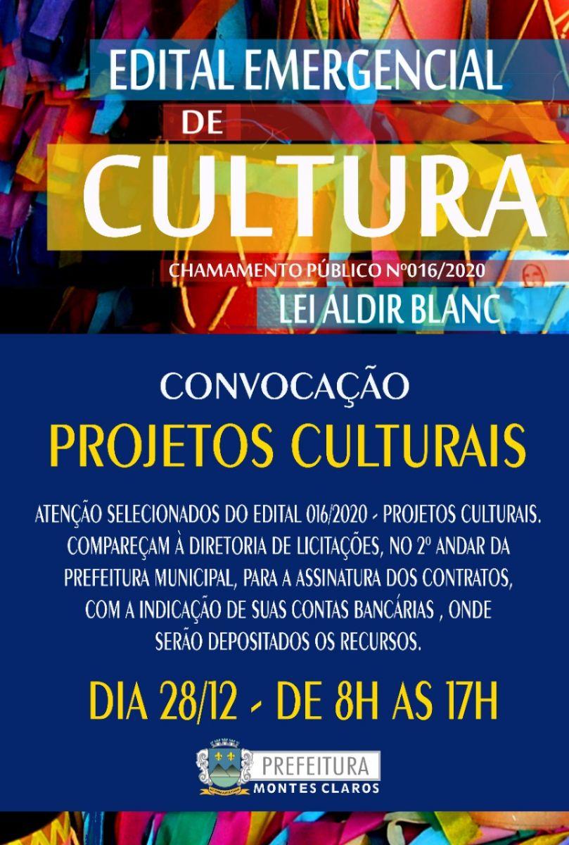 LEI ALDIR BLANC - CONVOCAÇÃO ESPAÇOS CULTURAIS - 28-12-20