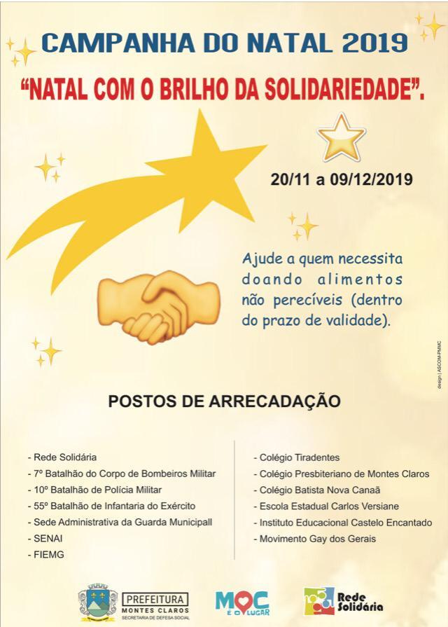"""Imagem de destaque """"NATAL COM O BRILHO DA SOLIDARIEDADE"""" - Famílias em situação de risco e vulnerabilidade social serão beneficiadas com campanha da Prefeitura"""