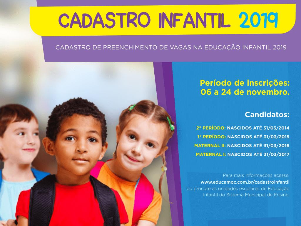 Imagem de destaque Cadastro para o preenchimento de vagas na Educação Infantil vai até o dia 24 de novembro