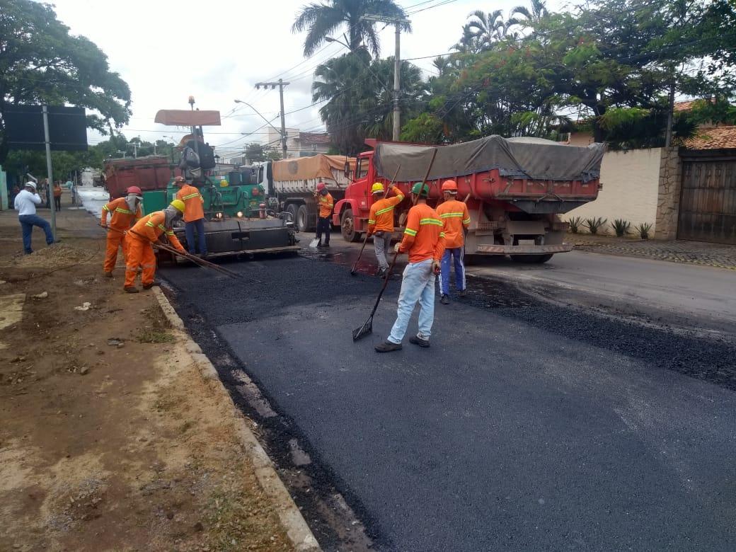 Imagem de destaque Recapeamento asfáltico continua na avenida João Chaves