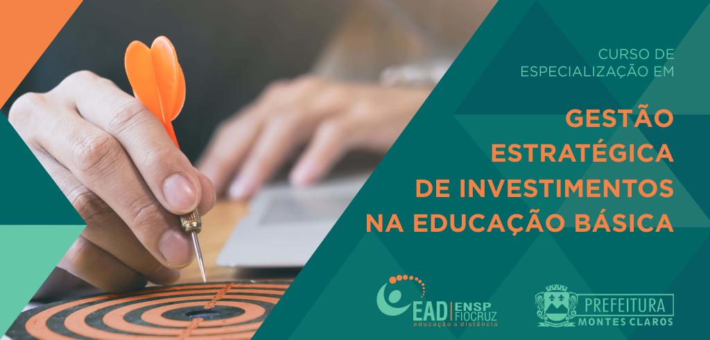 Imagem de destaque Prorrogado prazo de inscrições para o Curso de Especialização em Gestão Estratégica de Investimentos na Educação Básica