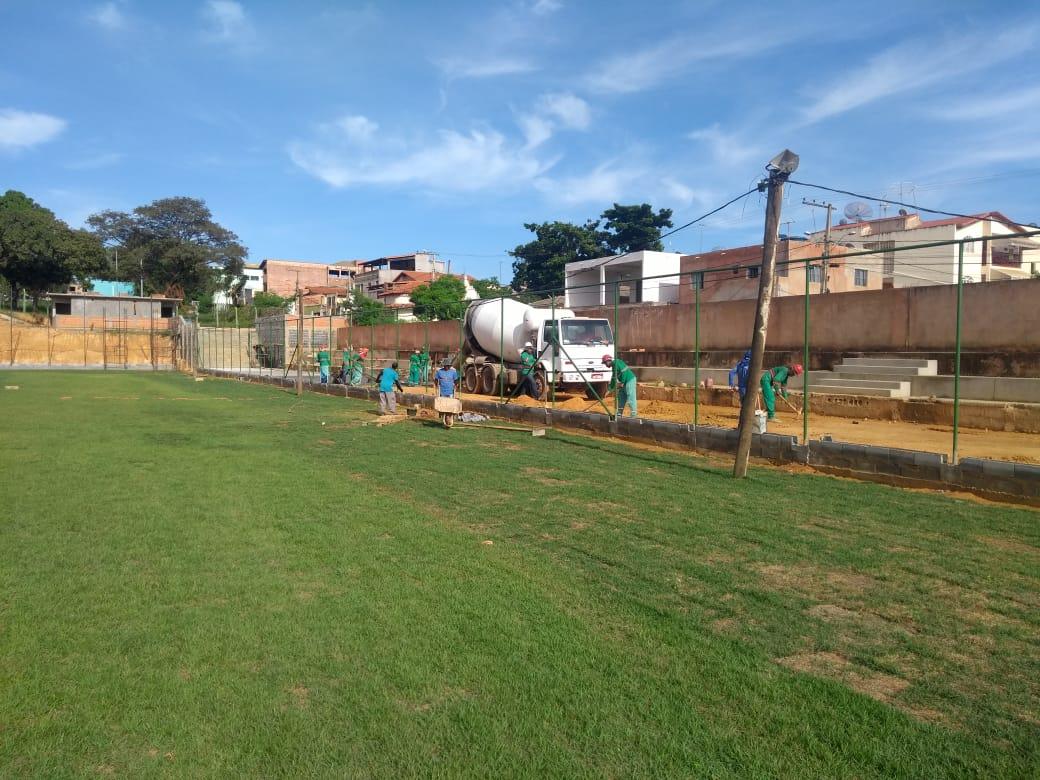 Imagem de destaque ESTÁDIO JOÃO BOTELHO - Construção de novo estádio municipal segue em ritmo acelerado