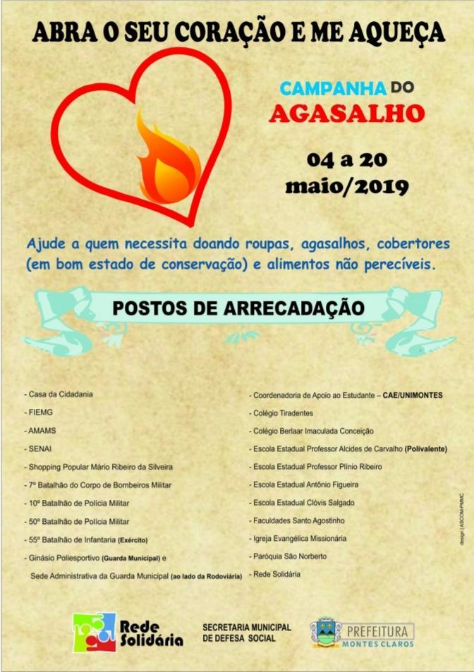 Imagem de destaque Campanha do Agasalho segue recebendo doações até a próxima segunda-feira