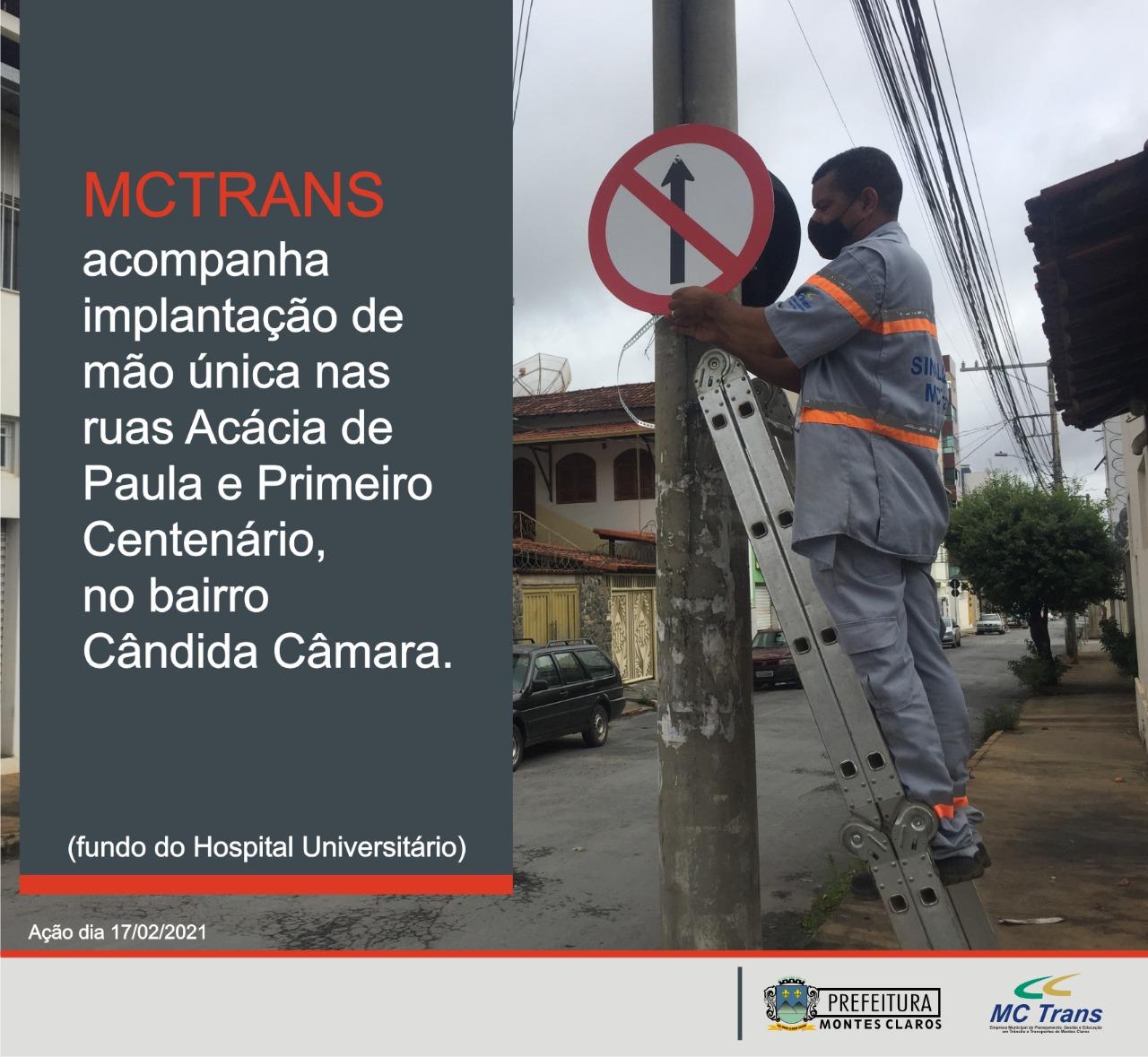 Imagem de destaque MCTrans implanta mão única em ruas do bairro Cândida Câmara