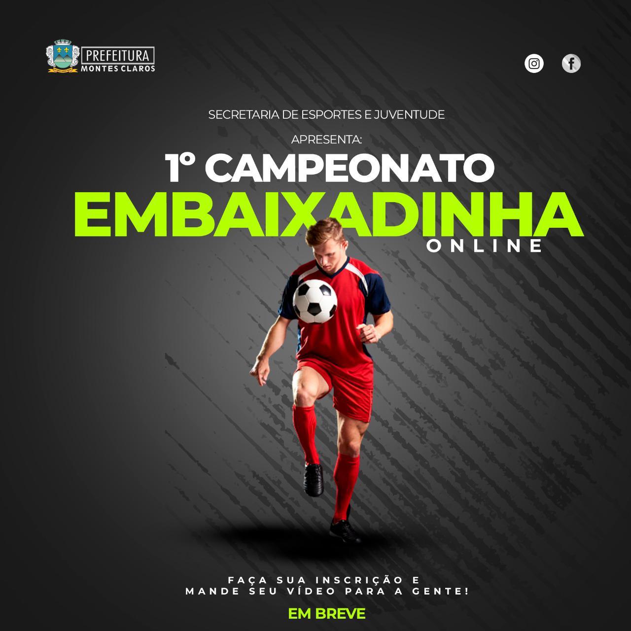 Imagem de destaque 1º CAMPEONATO DE EMBAIXADINHA ONLINE - Vídeos serão analisados pela Secretaria de Esportes