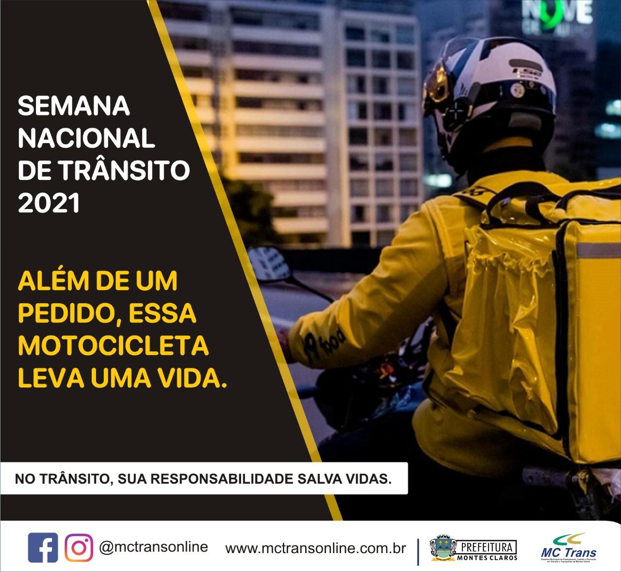 Imagem de destaque SEMANA NACIONAL DO TRÂNSITO - MCTrans realiza ação educativa focada em motoboys