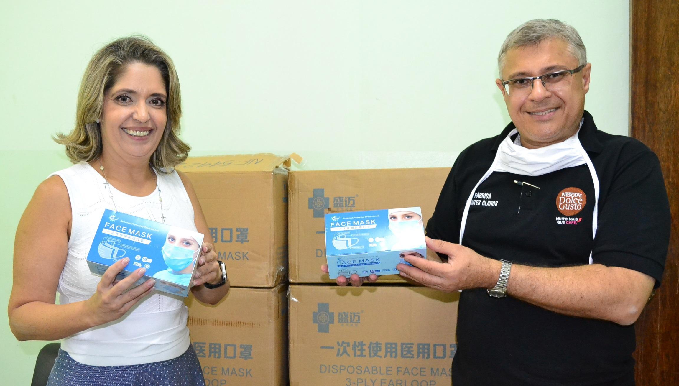 Imagem de destaque Montes Claros recebe doação de máscaras cirúrgicas da Nestlé