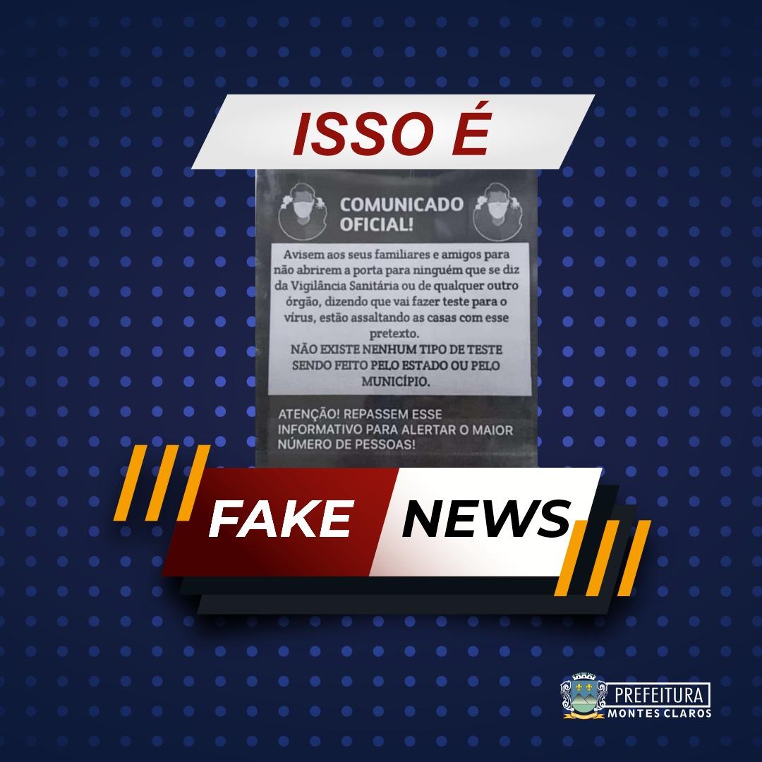 Imagem de destaque FAKE NEWS - É falso que golpistas estariam se passando por agentes da Prefeitura para praticar assaltos