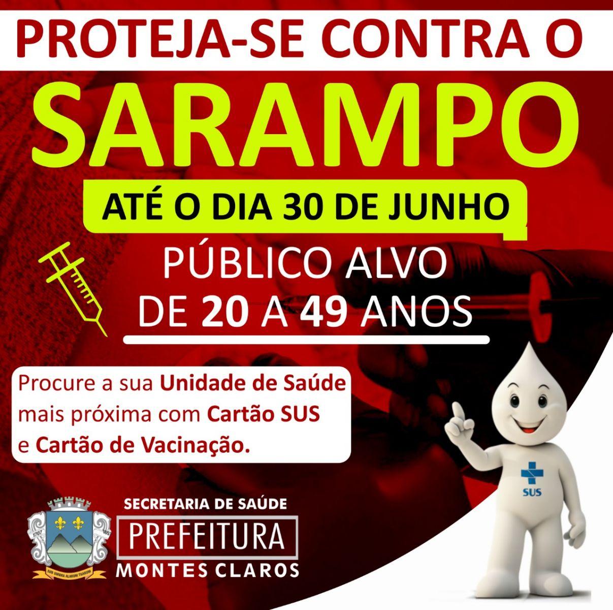 Imagem de destaque CAMPANHA TERMINA NO DIA 30 -  Montes Claros oferece diversos pontos de vacinação contra o sarampo