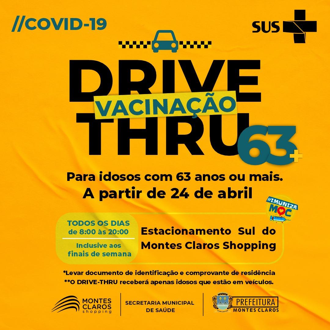 Imagem de destaque COVID-19 - Montes Claros começa a vacinar pessoas com 63 anos