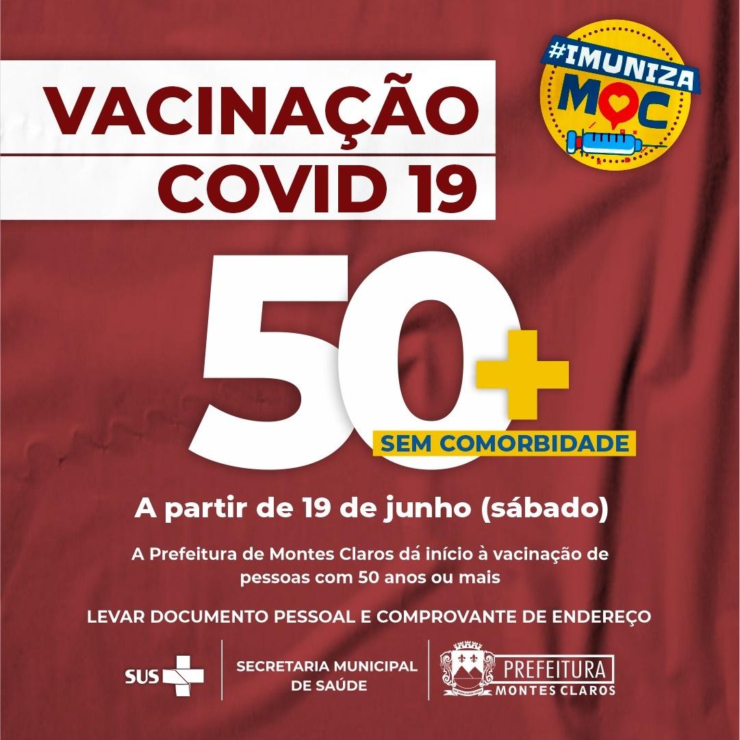 Imagem de destaque COVID-19 - Prefeitura amplia vacinação para pessoas com idade a partir de 50 anos, neste sábado