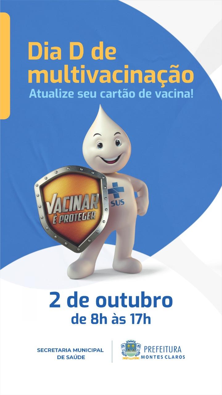 """Imagem de destaque SÁBADO AGORA! - Prefeitura vai realizar """"Dia D"""" da Campanha de Multivacinação"""