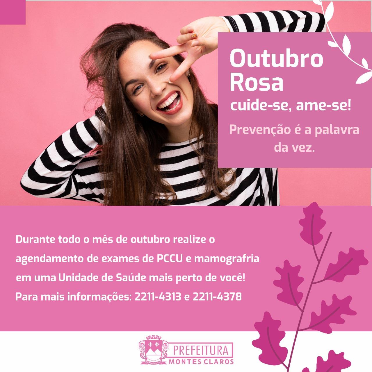 Imagem de destaque OUTUBRO ROSA  Prefeitura deu início à campanha de prevenção e diagnóstico precoce