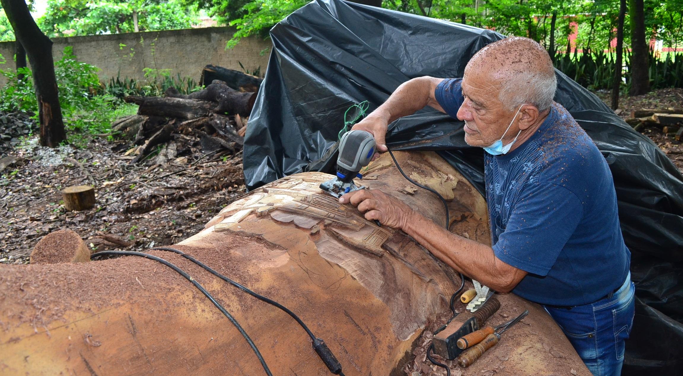 Imagem de destaque Árvore morta na Rodoviária vira obra de arte e ajuda a contar a história de Montes Claros