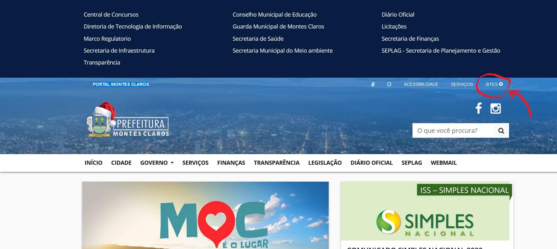 Imagem de destaque Portal da Prefeitura ganha função para facilitar navegação